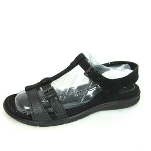 ECCO Groove T Strap Sandals Like New 40 9 9.5